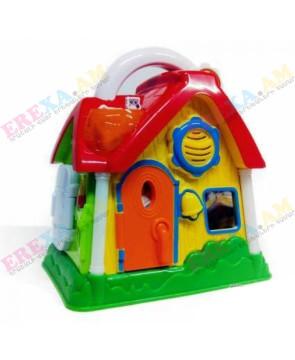 Խաղալիք տնակ բացվող դռներով